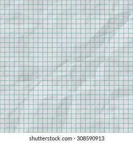 Seamless paper texture from  school exercise notebook