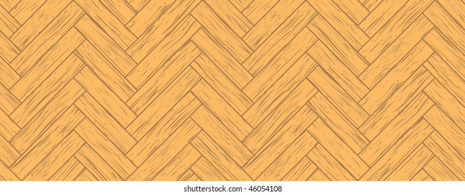 seamless parquet background, all the planks are different, vector version is also available