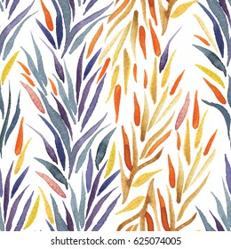 Seamless pattern with abstract botanical elements.