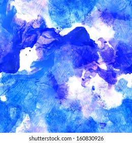 Seamless pattern. Abstract watercolor hand painted background