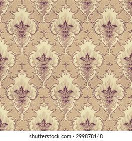Seamless Pattern Backdrop In Vintage Style