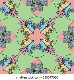 Seamless pattern background. Quilling