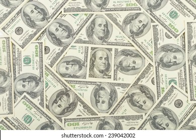 Seamless pattern of banknotes, money usa