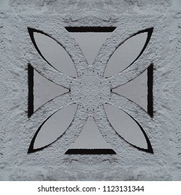 Seamless pattern of the concrete flower block