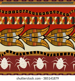 Seamless pattern in Egyptian style.