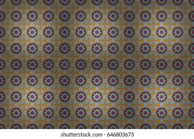 Seamless pattern with floral motif. Seamless floral pattern with blue flowers, watercolor. Raster flower illustration.