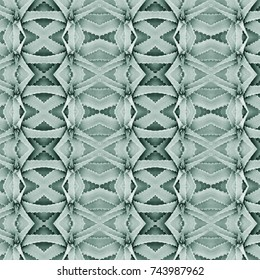 Seamless pattern with green Aloe vera