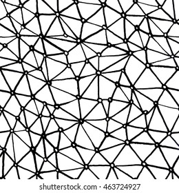 Seamless pattern hand drawn with ink. Simple abstract design may be used in interior and textile.