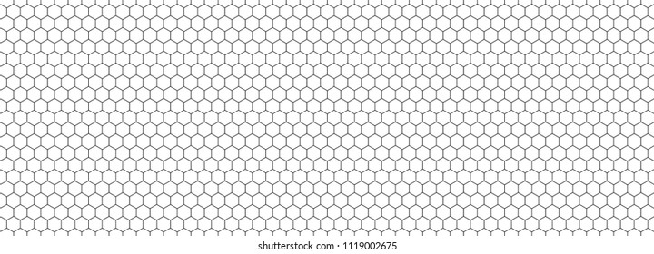 Seamless pattern of the hexagonal netting