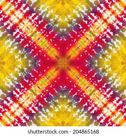 Seamless pattern made from tie-dye cotton