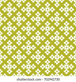 Seamless pattern. Modern stylish texture. Repeating geometric tracery. Contemporary graphic design. Yellow color Background.