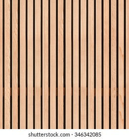 Seamless pattern of modern wall covering with vertical wooden slats for background