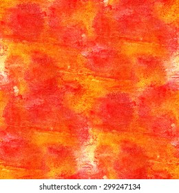 Seamless pattern orange watercolor hand abstract painted background wallpaper