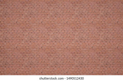 Seamless pattern of Red Brick Wall Background Texture 3D Render.for interior design vintage tone.brick wall of red color.Red texture with brick wall for background.