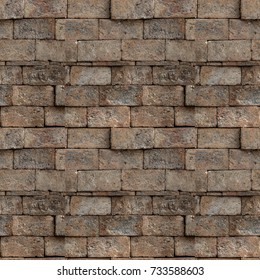 Seamless pattern of red brick wall. Abstract texture background.