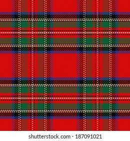 seamless pattern Scottish tartan Royal Stewart