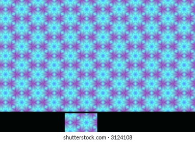 Seamless pattern with single tile isolated for individualized use.