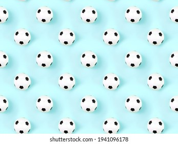 Seamless pattern of small white red ball for baseball sport game on blue background