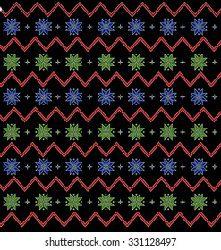 Seamless pattern with snowflake for winter holidays design