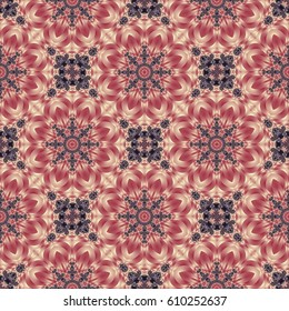Seamless pattern with spiral and circle ornament. You can use it for invitations, notebook covers, phone case, postcards, cards, ceramics, carpets and so on. Artwork for creative design and art.