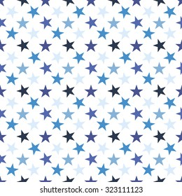 Seamless pattern with stars on white background.