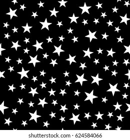 Seamless pattern, texture with random, scattered shapes