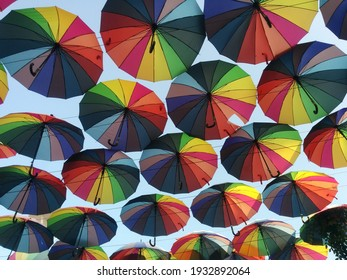 seamless pattern with umbrellas in Odessa