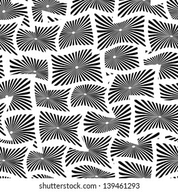 Seamless pattern with white and black rectangles