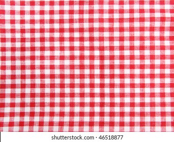 Seamless picnic table cloth, with red and white squares. Good as food background.