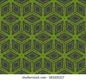 seamless raster copy pattern of geometric shape. for wallpaper, banner, fabric, textile, decor. green, grey color