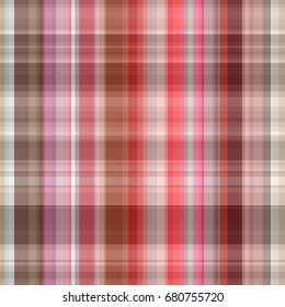 Seamless red background of plaid pattern illustration