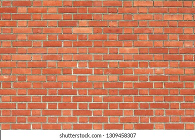 Seamless Red Brick Wall Background Texture with Plenty of Copy Space