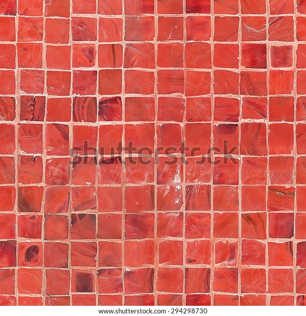 Seamless Red Mosaic Tile Texture Stock Photo Edit Now 294298730