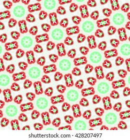 Seamless repeating colorful slanting kaleidoscopic pattern for backgrounds, design and wallpapers