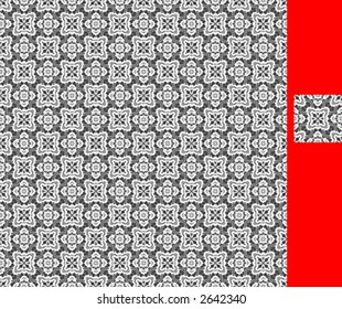 Seamless repeating pattern; single tile isolated for individualized use.