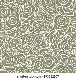 Seamless roses pattern.