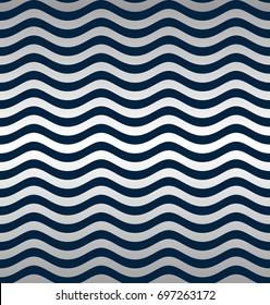 Seamless silver wave pattern.
