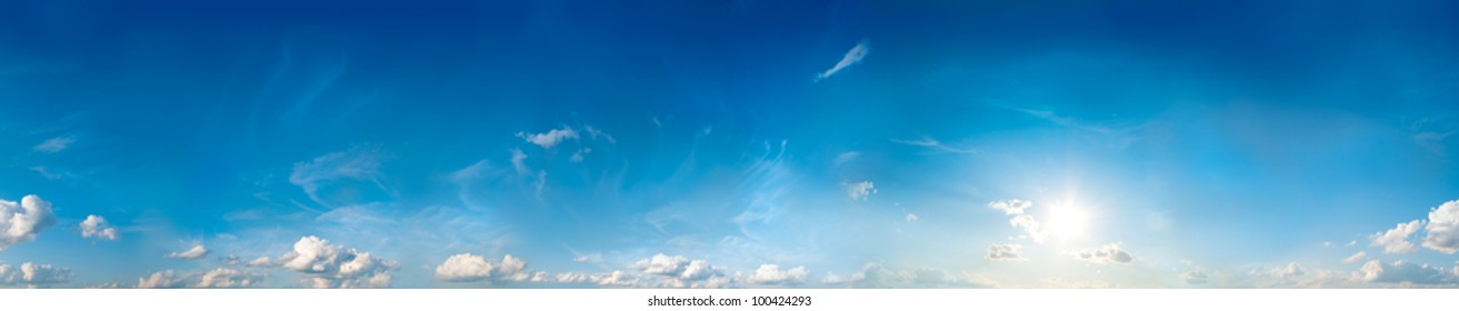 Seamless sky panorama. 360 degrees.