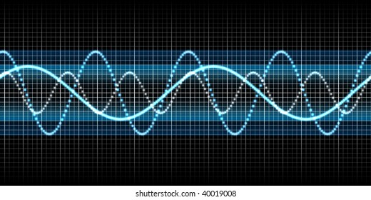 seamless sound wave blue
