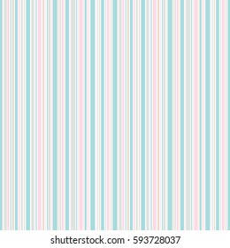 Seamless spring stripes pattern. Pink blue beige and white lines background. Abstract illustration