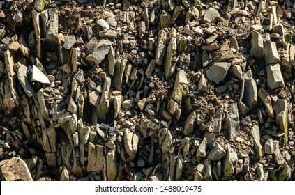 Seamless stone texture with fragments of rocks as original background. Natural stone background from really nature