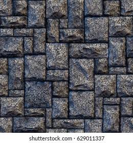 Seamless stone wall background.