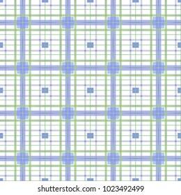 Seamless tartan pattern background, flat illustration design.