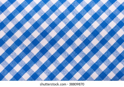 seamless texture of blue and white blocked tartan cloth