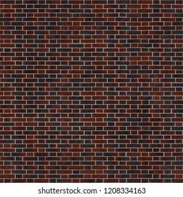 Seamless texture of clinker brick wall flemish bond. Stuttgart. Germany.