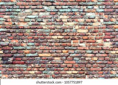 Seamless texture colorful brick wall
