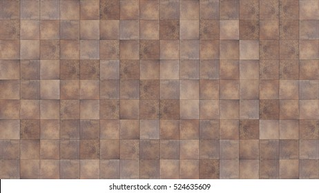 Seamless texture map for use in 3ds software. dark brown ceramic tile.