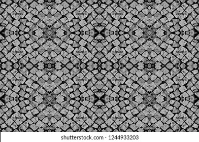 Seamless texture of the road with paving stones. Gray background