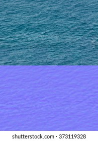 seamless texture of water with normal map