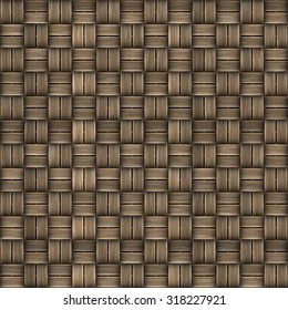 Seamless texture of wicker surface. Pattern background.
